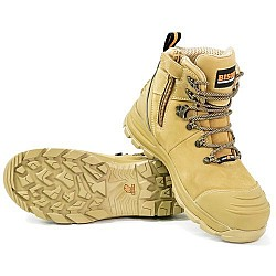 BISON SAFETY BOOT XT ANKLE LACE UP WITH ZIP