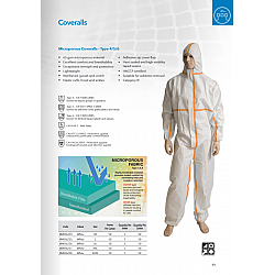 Microporous Overalls Coveralls Type 4 5 6