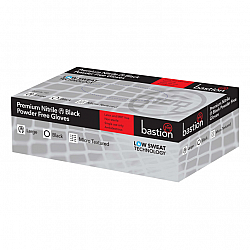 Nitrile Black Gloves Powder Free Micro Textured Box of 100