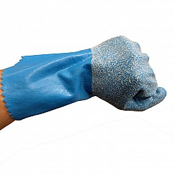 Cottonlined Rubber Glove with rough grip Asbestos Removal