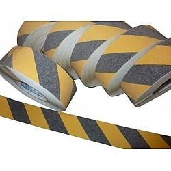 Yellow Black Anti Slip Grip Tapes 50mm 18.2m Rolls