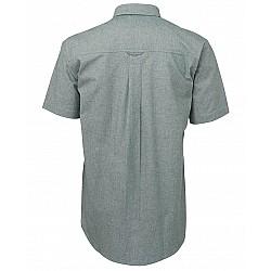 Green Stitch Short Sleeve Button Shirt