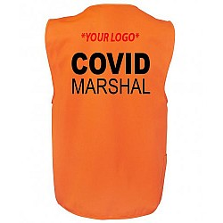 Covid Marshal HI VIS Zipper Vest Crowd Safety