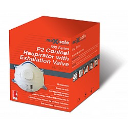 Maxisafe RES514 Conical Respirator Valved P2 N95 BOX of 10