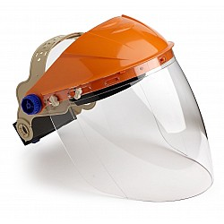 STRIKER BROWGUARD WITH VISOR CLEAR LENS ECONOMY