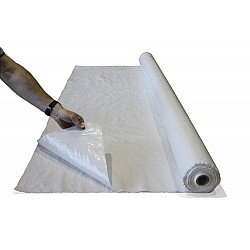 Poly Woven Plastic Protection Sheeting For Floors Folded 4M x 50M