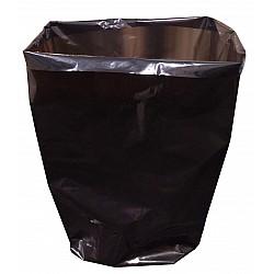 Gusset Waste Bags Black Compaction Heavy Duty 82cm x 109cm x 100um