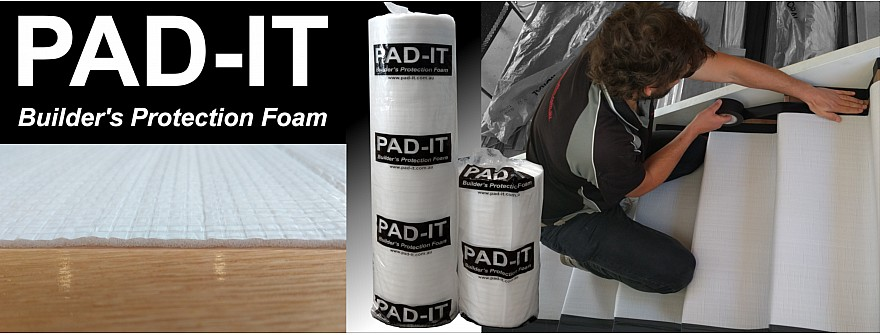 Builders floor protection foam
