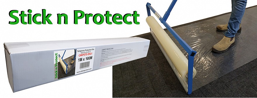 Carpet self-adhesive protection plastic film